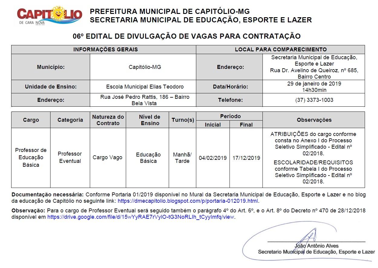 Edital 06_professor EM Elias Teodoro